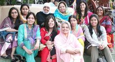 In the centre of this picture is Musarrat Misbah, the founder of the Depilex Smile Again Foundation. | There Are Beauty Salons In Pakistan For Women Who Have Suffered Acid Attacks - BuzzFeed News