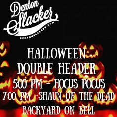 Don\'t forget this Sunday Denton Slacker hosts a double header of spooky cinema with Hocus Pocus at 5pm & Shaun of the Dead at 7pm @backyardonbell  #dentonslacker #backyardonbell #denton #dentontx #movienight #backyardmovie #dentontexas #dentonite #dentoning #unt #twu #discoverdenton #wedentondoit #wddi #scoutdenton #hocuspocus #shaunofthedead #youvegotredonyou #itsnothiphopitselectro