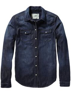 Camisa western denim | Camisa de manga larga | Ropa para mujer en Scotch & Soda