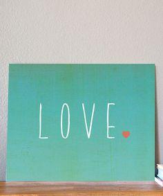 Loving this 'Love' Print on #zulily! #zulilyfinds