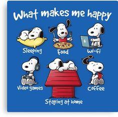 What makes me happy Canvas Print
