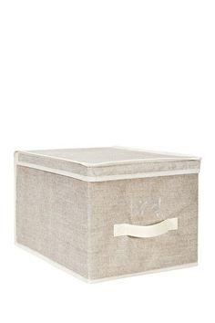 Burlap Large Faux Jute Storage Box by Kennedy International Inc. on @HauteLook