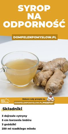 Lemon and ginger syrup to strengthen immunity, Helathy Food, Fruit Recipes, Healthy Recipes, Good Food, Yummy Food, Health Eating, Easy Snacks, Fruit Smoothies, Natural Medicine