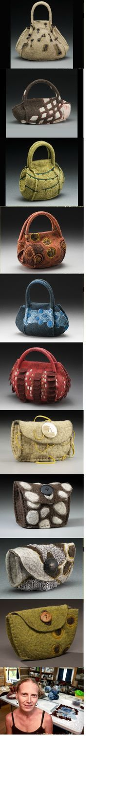 Lisa Klakulak's amazing handbags. http://www.strongfelt.com/