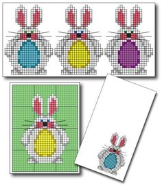 Chubby Bunny Needlepoint Pattern - Easter Bunny needlepoint Pattern. Or cross stitch.