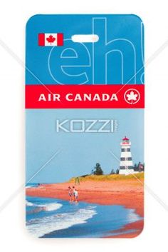 close-up image of air ticket on white. - Close-up shot of air Canada ticket over plain white background.