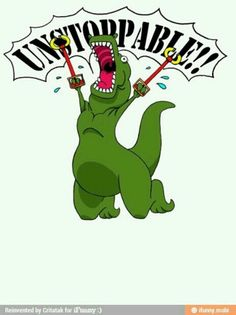 t-rex dinosaur comic metal arms unstoppable funny pics pictures pic picture image photo images photos lol T Rex Humor, Nerd Humor, I Love To Laugh, Make Me Smile, Humor Grafico, To Infinity And Beyond, Funny Pins, Haha Funny, Funny Stuff