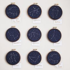 cross-stitch constellations - teach kids the star systems!