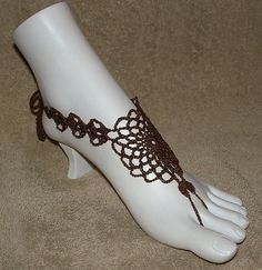 NEW  Filagree Barefoot Sandals by gilmoreproducts33 on Etsy, $14.00