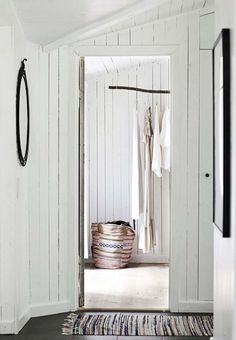 Modern Rustic Style In A Danish Summer House Beddinge, Haus Am See, Modern Rustic Homes, Wooden House, Decorating Blogs, House Painting, Rustic Style, Decoration, Wardrobe Rack