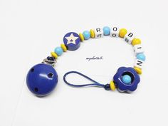 myduttel© Schnullerkette Junge Baby blau mit von myduttel auf Etsy