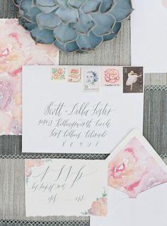 Floral lined envelopes: http://www.stylemepretty.com/2014/12/24/nutcracker-inspired-wedding-shoot/ | Photography: Caroline Frost - http://www.carolinefrostphotography.com/