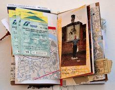 messy travel journal.
