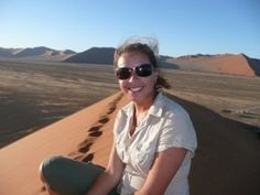 My photo on Dune 45 in Namibia, Oct 2007