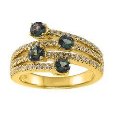 Alexandrite Yellow Gold Ring JPG