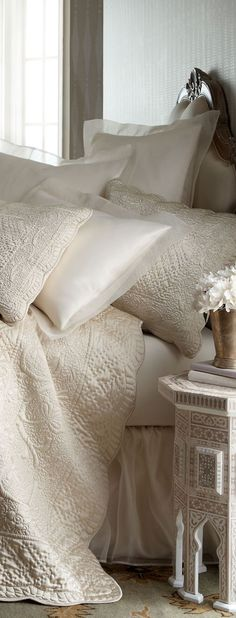 gorgeous white bed linen