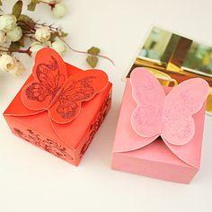 Boîtes papillon Thème Favor - Lot de 12 (plus de couleurs) – USD $ 2.81