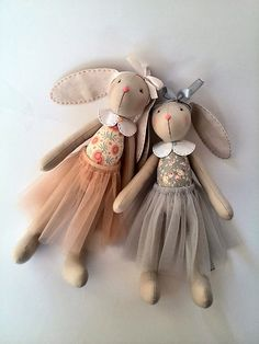 Stuffed toy bunny Gift for sisters Bunny doll by HandmadeToyStore