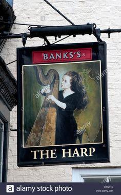 The Harp Pub Sign, Shropshire