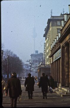 East Berlin - February 1982 - Karl-Marx-Allee by ♦cM Karl Marx, East Germany, Berlin Germany, Rda, Vietnam History, Berlin Wall, Celebrity Travel, Vintage Photography, Indie Photography