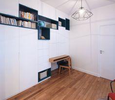 Un Meuble Sur Mesure Multifonction Astucieux : Dressing Bureau Bibliothèque    Rénovation Du0027un Appartement