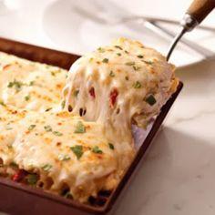 Creamy White Chicken Alfredo Lasagna Recipe