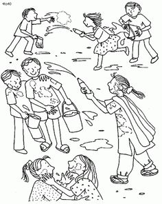 Holi Coloring Pages | Awesomeyessness | Pinterest | Holi