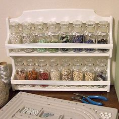 Repurpose a Spice Rack for Beads