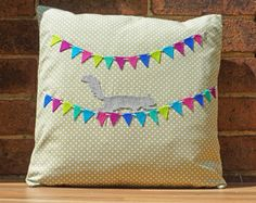 Decorative Cushion Pillow Squirrel Bunting by WhileLokiDreams, £30.00