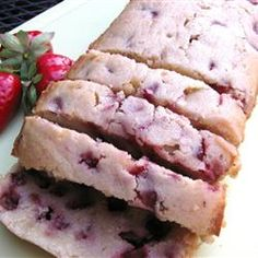 Amazing Strawberry Pound Cake - just made this & added a banana