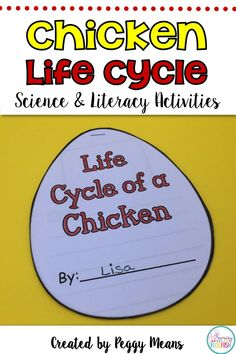 Chicken Life Cycle Science and Literacy Activities by Peggy Means - Primary Flourish Teaching Strategies, Teaching Writing, Teaching Science, Teaching Resources, Teaching Ideas, Kids Learning Activities, Classroom Activities, Science Lessons, Life Science