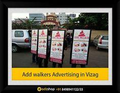 look walkers advertising in vizag, I walkers advertising in vizag, human billboards advertising in vizag,add walkers in vizag