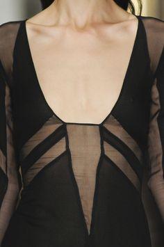 Black sheer dress. Hot or not? www.clubfashionista.com
