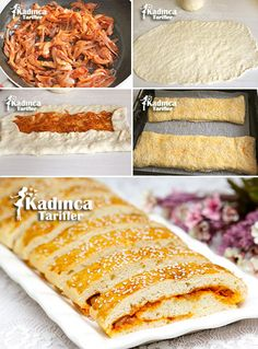 Soğanlı Pide Tarifi, Nasıl Yapılır? (Videolu) - Kadınca Tarifler Pain Pizza, Turkish Recipes, Ethnic Recipes, Pancakes, Salsa, Food And Drink, Cooking Recipes, Bread, Turkish Cuisine