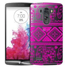 LG G3 Pink Lace Aztec Elephants Case