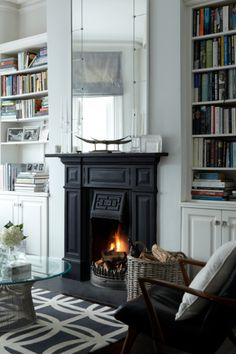 1000 Images About Black Fireplaces On Pinterest Black