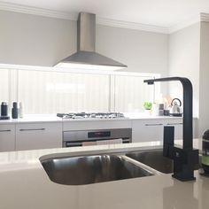Meir Australia Matte Black Tapware. Get the look at www.meir.com.au/. #matteblack #blacktapware #MeirAustralia #bathroom #matte #black #MeirAustralia