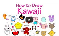 """Kawaii"" is Japanese for ""cute.""  These drawings are easy to do, but you may need some tips before you get started.  So watch this video: http://learntodraw.biz/kawaii-pinterest"