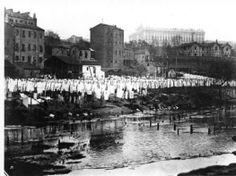 Río de Madrid, Manzanares, foto antigua.