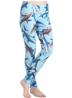Take Leggings Fresh Take Leggings in Sharks. Put an unexpected bite in your style with these shark leggings!Fresh Take Leggings in Sharks. Put an unexpected bite in your style with these shark leggings! Shark Leggings, Print Leggings, Blue Leggings, New Outfits, Cute Outfits, Shark Bait, Shark Shark, Grunge, Blue Shark
