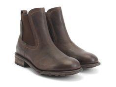 Fluevog Shoes   Shop   Locke (Brown)   Leather Chelsea Boot