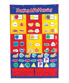 Look at this Sorting & Patterning Pocket Chart Set on #zulily today!
