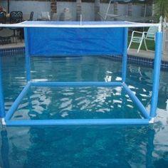 Pvc Pool, Pool Fun, Do It Yourself Pool, Do It Yourself Furniture, Pool Shade, Backyard Shade, Beach Shade, Sun Shade, Tarp Shade