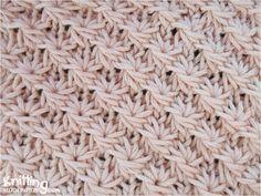 Daisy flower knitting stitch