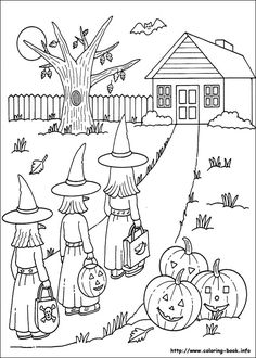 Halloween Coloring Sheets Use Fractions To Describe Pictures