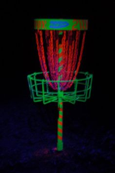 glow in the dark disc golf <3  *photo taken by Beckie*