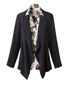 Long cascade jacket - [K06680] Lightweight Silk jacket from coldwater creek $ 17.99