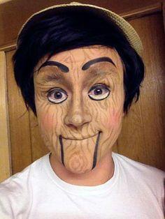 Wooden Dummy/Pinocchio makeup