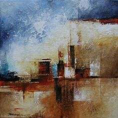 Dwellings by Mark Yearwood Acrylic ~ 14'' x 14''