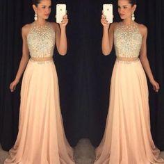 2016 Prom Dress, Sexy Peach Prom Dr..
